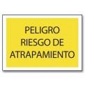 PELIGRO RIESGO DE ATRAPAMIENTO (APLAST/MANO)