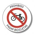 PROHIBIDO PASAR BICICLETAS