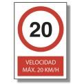 VELOCIDAD MÁX. 20KM/H