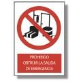 PROHIBIDO OBSTRUIR LA SALIDA DE EMERGENCIA